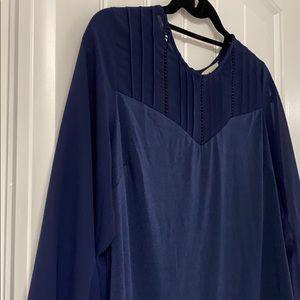 Navy 3/4 Sleeve Blouse